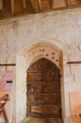 South door and wall paintings