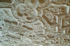 Anglesey Abbey, Plasterwork ceiling in the Oak Room