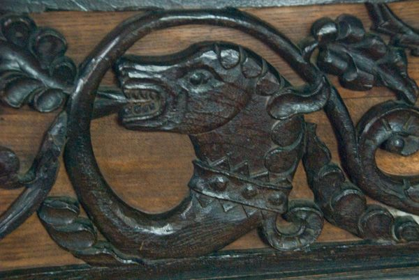 Appleby, St Lawrence Church photo, carved dragon figure