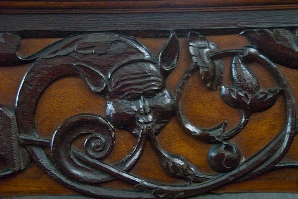 Appleby, St Lawrence Church photo, Serpent carving