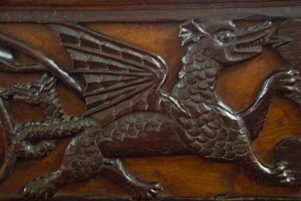 Appleby, St Lawrence Church photo, Winged Dragon Carving