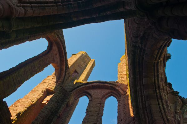 Arbroath Abbey photo, Ruined tower interior