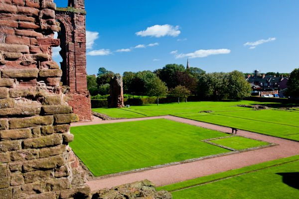 Arbroath Abbey photo, Cloisters from the tower