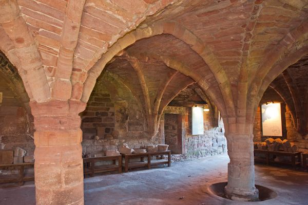 Arbroath Abbey photo, Abbot's House vaulted undercroft