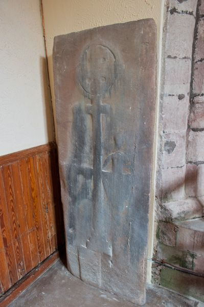 Arbuthnott, St Ternan's Church photo, Medieval grave slab