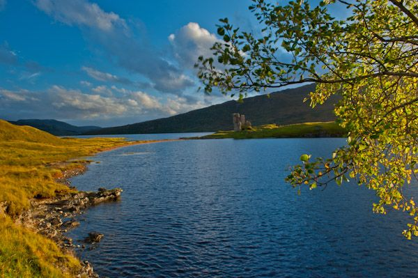 Ardvreck Castle photo, Loch Assynt and Ardvreck