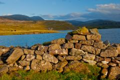 Loch Assynt and castle walls