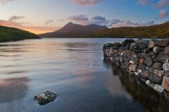 Defensive wall and Loch Assynt