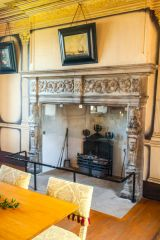 Argyll�s Lodging, The dining room fireplace