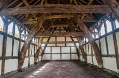 Arley Hall, Another view of the barn interior