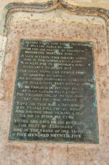 Arreton, St George's Church, Plaque to William Serle, 1595