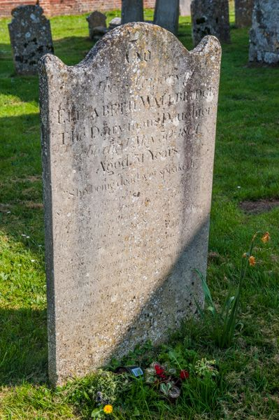 Arreton, St George's Church photo, Gravestone of Elizabeth Wallbridge, The Dairyman's Daughter