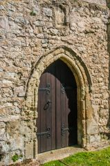Arreton, St George's Church, Saxon doorway and blocked window