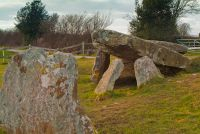 Cromlech and outlier stone