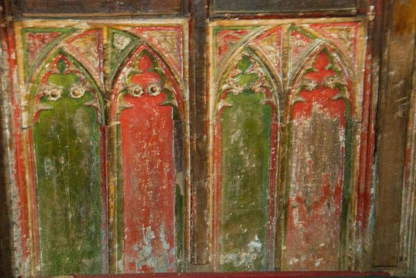 Ashby St Ledgers Church photo, Rood screen panels