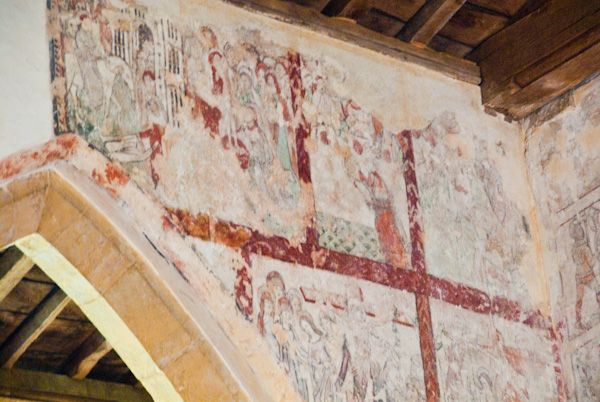 Ashby St Ledgers Church photo, Wall painting