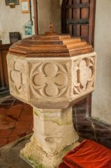 Atherington, St Mary's Church, The 15th century font