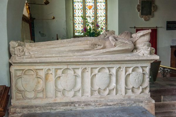 Atherington, St Mary's Church photo, Sir Ralph Willington tomb, 1349