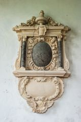 Atherington, St Mary's Church, Anthony Snell wall monument, 1707