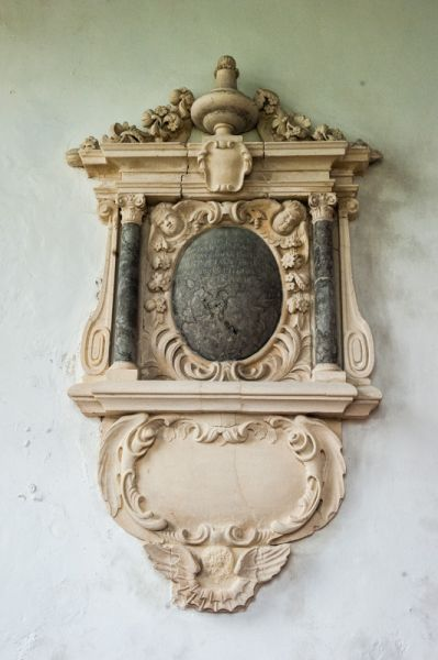 Atherington, St Mary's Church photo, Anthony Snell wall monument, 1707