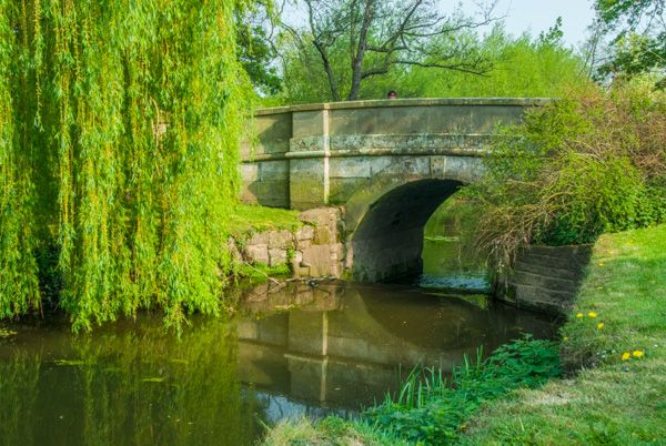 Attingham Park photo, A neo-classical bridge in the grounds