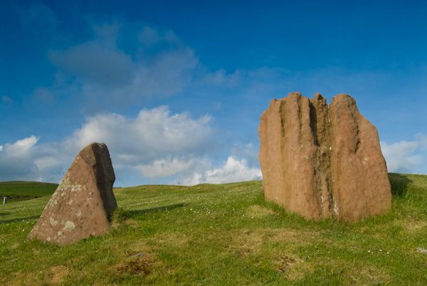 Auchagallon Stone Circle photo, Standing stones