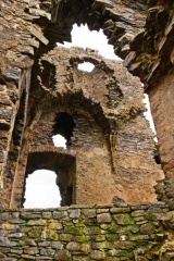 Inside the tower ruins