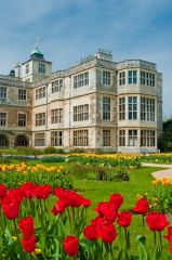 Audley End House, Formal parterres and east front