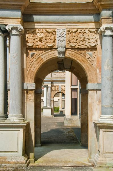 Audley End House photo, West entrance arch
