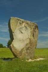 One of the large stones of the outer circle
