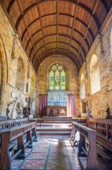 Avon Dassett, St John's Church, The barrel-vaulted chancel