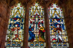 Avon Dassett, St John's Church, The east window by Clayton & Bell