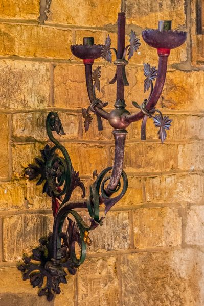 Avon Dassett, St John's Church photo, Another of the Victorian candle brackets