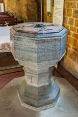Avon Dassett, St John's Church, The Purbeck marble font