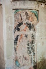 Axmouth, St Michael's Church, Wall painting of a saint