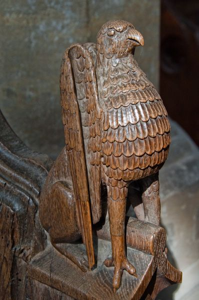 Bacton, St Mary's Church photo, Lion figure bench end