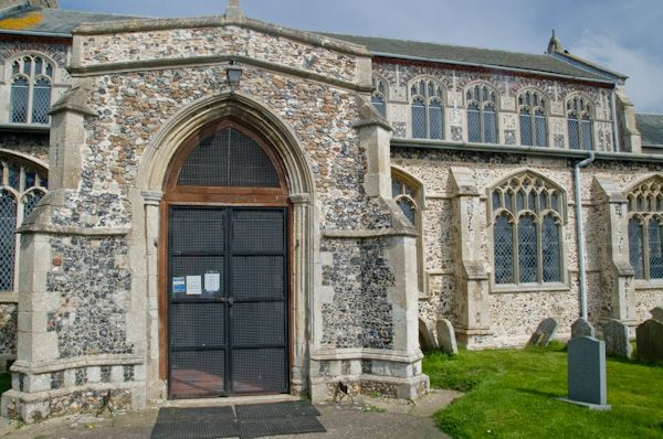 Bacton, St Mary's Church photo, South porch