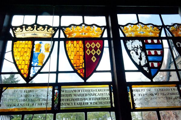 Baddesley Clinton photo, Ferrers coats of arms