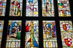 Baddesley Clinton, St Michael's Church, 16th century east window