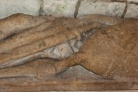 Wyvern carving on de Mauley tomb