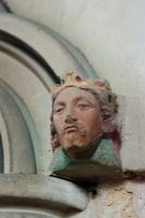 Carved, painted head