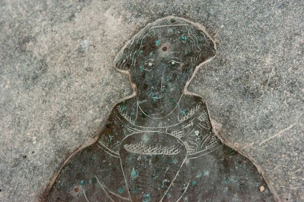 Bainton, St Andrew's Church photo, Godeale brass