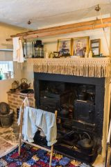 The Victorian kitchen fireplace