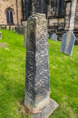 Bakewell, All Saints Church, One of the 2 Saxon churchyard crosses