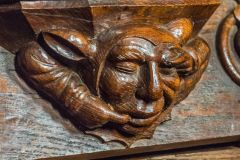 Bakewell, All Saints Church, Medieval misericord in the chancel