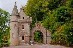 The castellated gatehouse