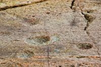 Baluachraig Cup And Ring Marks, Ring and 'cup' depressions