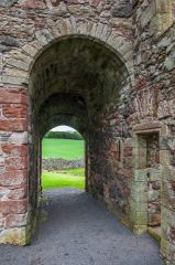 The vaulted entrance passage