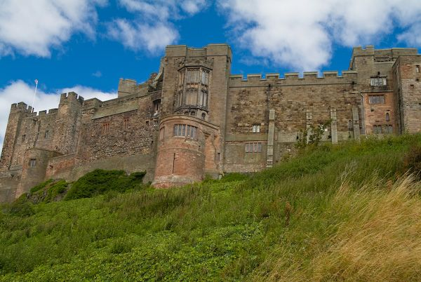 Bamburgh Castle photo, The castle from below