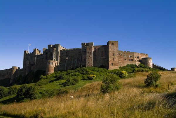 Bamburgh Castle photo, View from the north